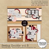 Seeing Double volume 5 Digital Scrapbooking Templates PSD/TIF/PAGE