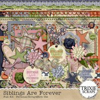Siblings Are Forever Digital Scrapbooking Kit