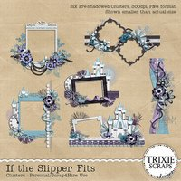 If the Slipper Fits Digital Scrapbooking Clusters Disney