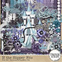 If the Slipper Fits Digital Scrapbooking Kit Kid Fun Disney