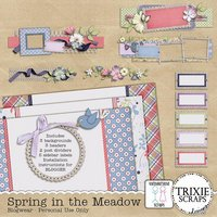Spring in the Meadow Digital Scrapbooking Blogwear BLOGGER Template