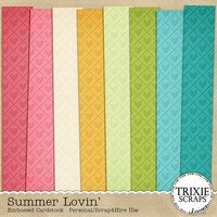 Summer Lovin' Digital Scrapbooking Embossed Cardstock