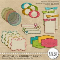 Summer Lovin' Digital Scrapbooking Journal It Element Pack