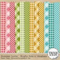 Summer Lovin' Digital Scrapbooking Krafty Papers Pack