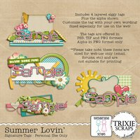Summer Lovin' Digital Scrapbooking Signature Tags