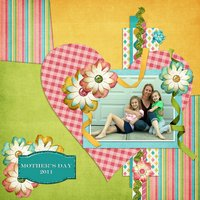 Summer Lovin' Digital Scrapbooking Templates PSD/TIF/PAGE