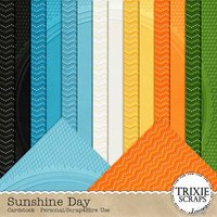 Sunshine Day Digital Scrapbooking Cardstock Summer Pool Beach