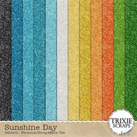Sunshine Day Digital Scrapbooking Glitter Papers Summer