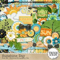 Sunshine Day Digital Scrapbooking Kit Summer Pool Beach