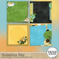 Sunshine Day Digital Scrapbooking Page Starters Summer Pool