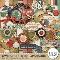 Sweetened with Gratitude Digital Scrapbooking Full Kit