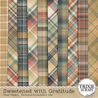 Sweetened with Gratitude Digital Scrapbooking Plaid Papers