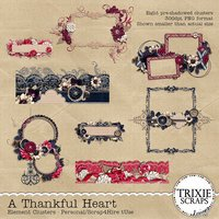 A Thankful Heart Digital Scrapbooking Clusters