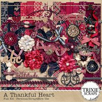 A Thankful Heart Digital Scrapbooking Kit Thanksgiving Heritage