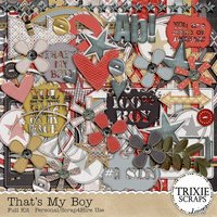 That's My Boy Digital Scrapbooking Kit Men Sons Boys