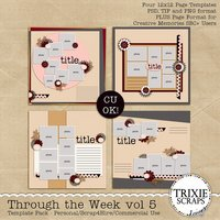 Through the Week Volume 5 Digital Scrapbooking Templates PSD/TIF/PAGE