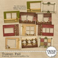 Tuscan Fall Digital Scrapbooking Hybrid Bragbook