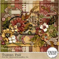 Tuscan Fall Digital Scrapbooking Kit Seasons Autumn Heritage