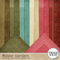 Winter Carolers Digital Scrapbooking Cardstock