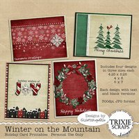 Winter on the Mountain Holiday Card Printables