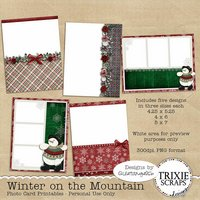 Winter on the Mountain Photo Card Printables