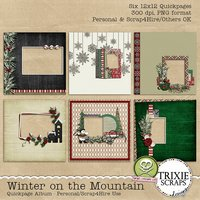 Winter on the Mountain Digital Scrapbooking Quickpages