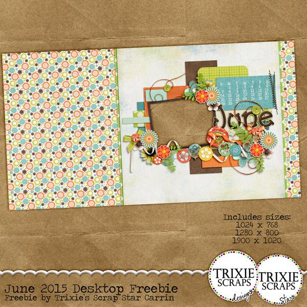 June 2015 Desktop Calendar